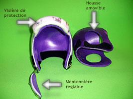 Casque de protection avec mentonnière